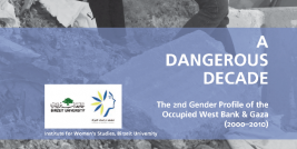 A Dangerous Decade:The 2nd Gender Profile of the Occupied West Bank and Gaza (2000 – 2010)