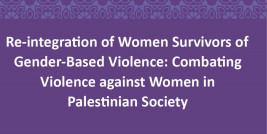 Re-integration of women Survivors of GBV